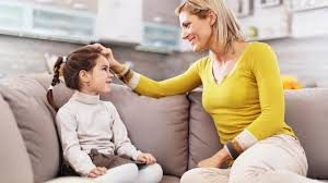 parent talking to child