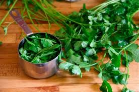 parsley and mint